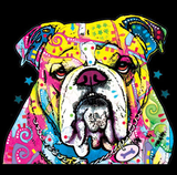 Neon Bulldog Tshirt with Large Print - TshirtNow.net - 2