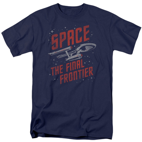 Star Trek Space The Final Frontier TOS Enterprise SPACE TRAVEL Tshirt