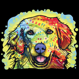 Neon Golden Retriever Tshirt - TshirtNow.net - 2