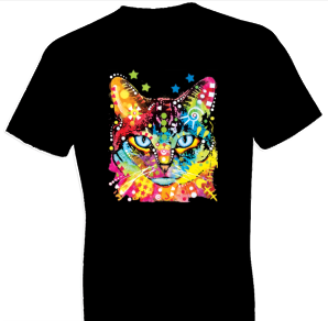 Neon Blue Eyes Cat Tshirt
