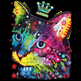 Neon Thinking Cat Crowned Tshirt - TshirtNow.net - 2