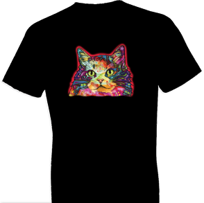Neon Ragamuffin Cat Tshirt
