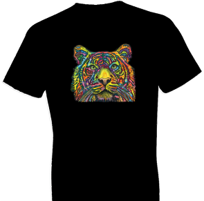 Neon Tiger 2 Cat Tshirt