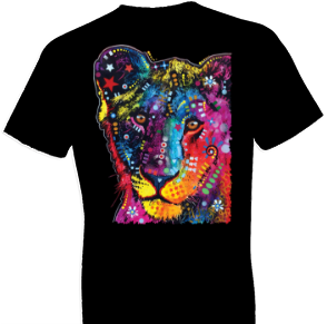Neon Young Lion Cat Tshirt
