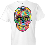 Neon Skull Day of The Dead Tshirt - TshirtNow.net - 1