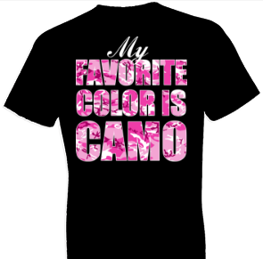 Favorite Color Is Camo Country Tshirt