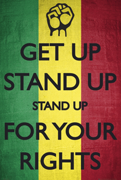 Bob Marley Get Up Stand Up Poster - TshirtNow.net