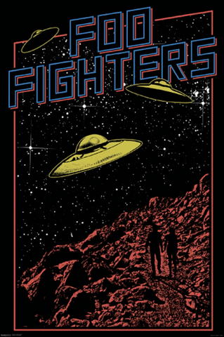 Foo Fighters UFO Poster