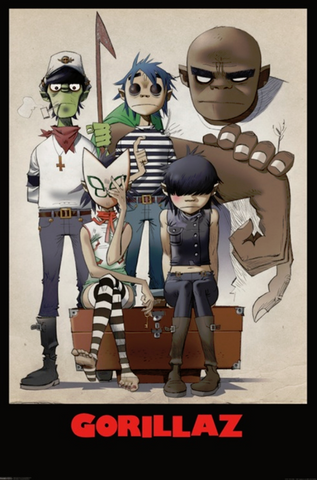Gorillaz Family Portait Poster