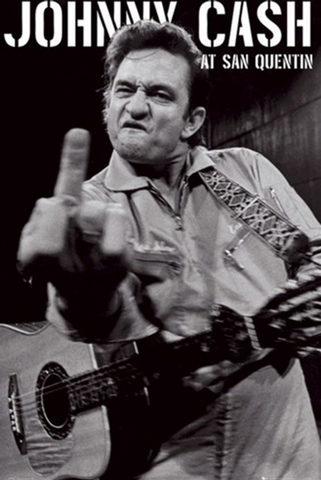 Johnny Cash- San Quentin (vertical) Poster
