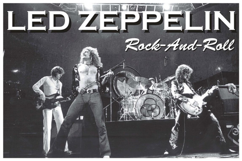 Led Zeppelin Rock and Roll Poster