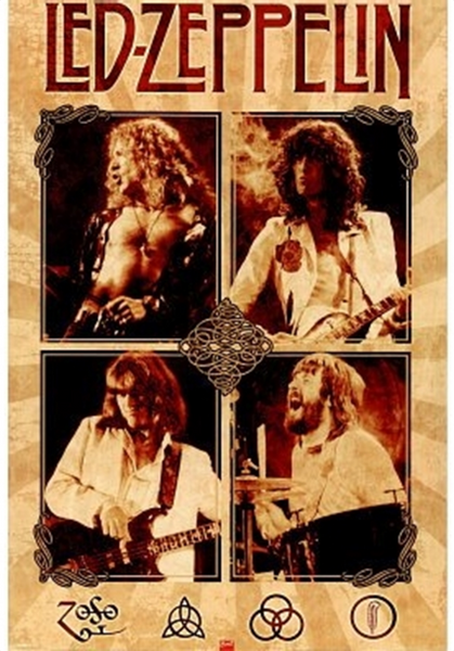 Led Zeppelin Parchment Poster - TshirtNow.net