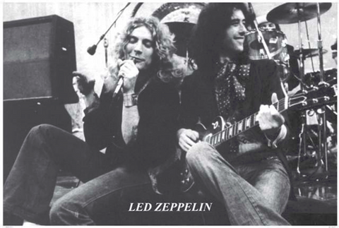 Led Zeppelin Plant and Page Sitting Poster