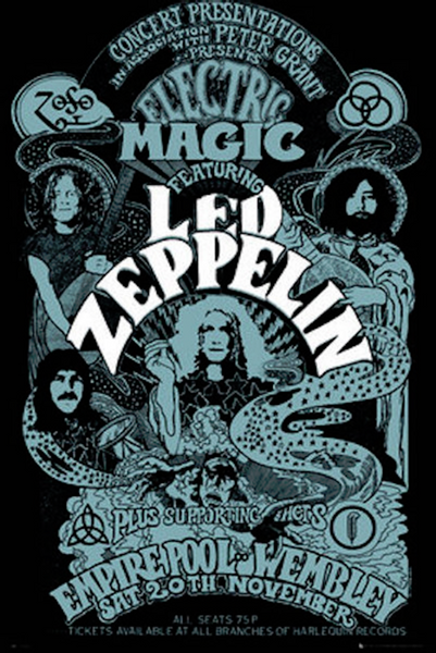 Led Zeppelin Electric Magic Poster - TshirtNow.net