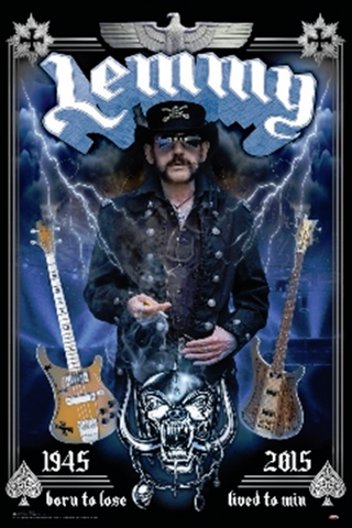 Motorhead Lemmy Born To Lose Lived to Win Poster