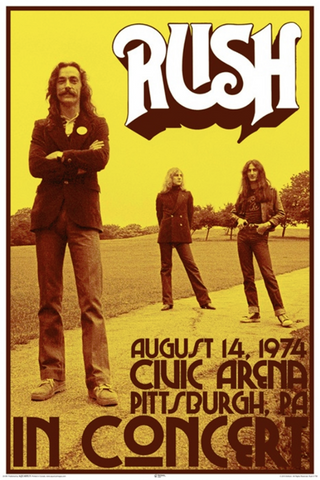 Rush August 14 1974 Poster