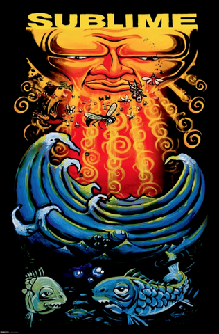 Sublime Sun and Fish Poster