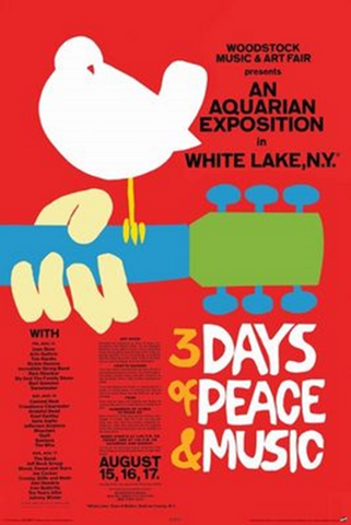 Woodstock 3 Days of Peace Poster