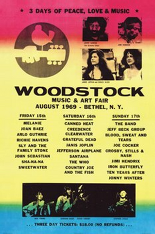 Woodstock Music and Art Fair Poster