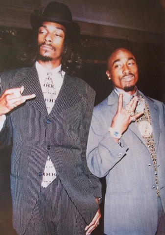 Tupac and Snoop Suits Poster