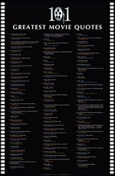 101 Greatest Movie Quotes Poster - TshirtNow.net