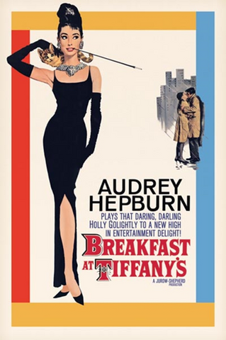Breakfast at Tiffany's Audrey Hepburn Poster