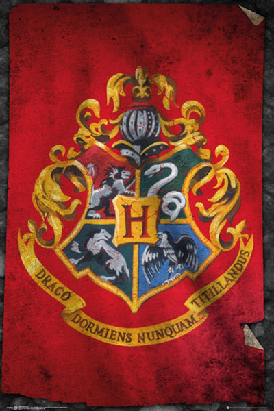 Harry Potter Hogwarts Flag Poster - TshirtNow.net