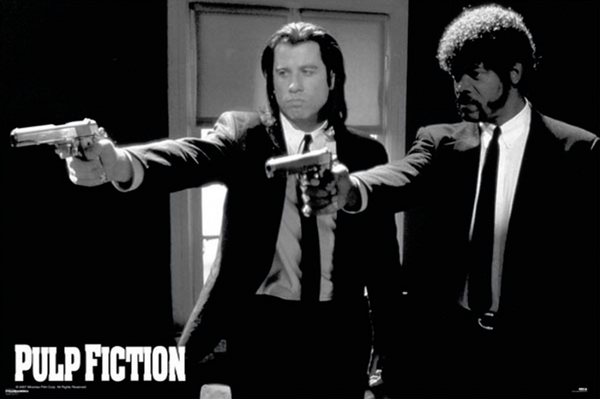 Pulp Fiction Vincent and Jules Guns Poster - TshirtNow.net