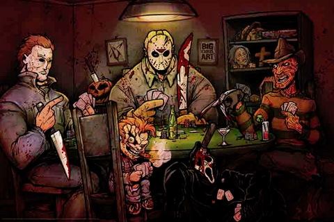 Slashers Playing Poker Poster