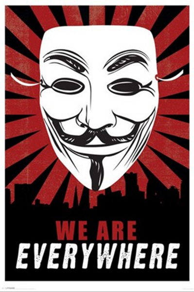 V for Vendetta We Are Everywhere Poster - TshirtNow.net