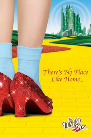 Wizard of Oz There's No Place Like Home Poster