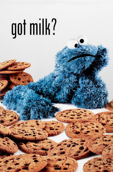 Cookie Monster Got Milk Poster - TshirtNow.net