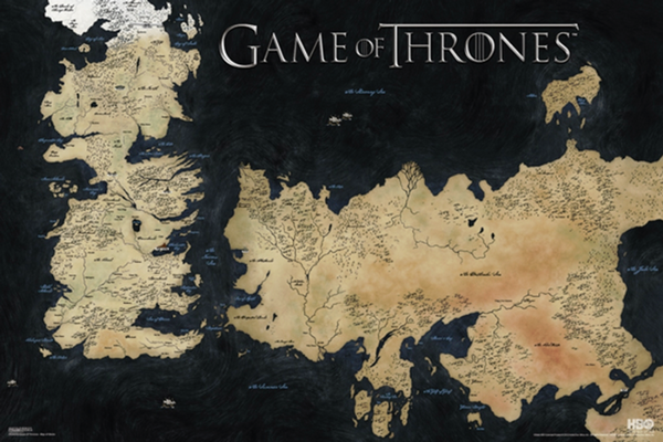 Game of Thrones Map Poster - TshirtNow.net