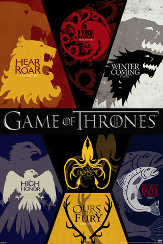 Game of Thrones Sigils Poster