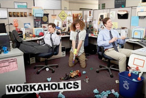 Workaholics Cubicle Poster