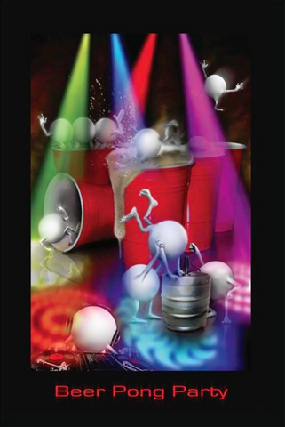 Beer Pong Party Poster