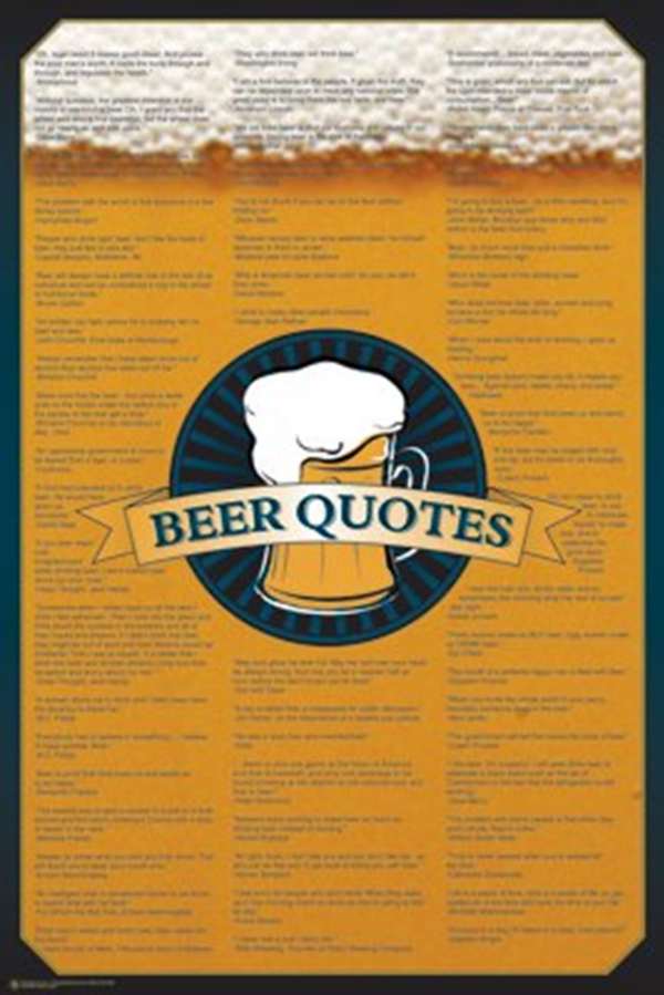 Beer Quotes Poster
