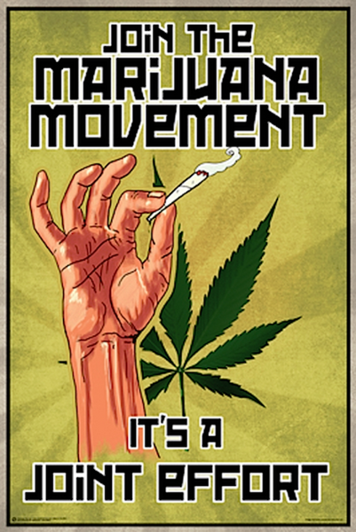 Join The Marijuana Movement Poster - TshirtNow.net