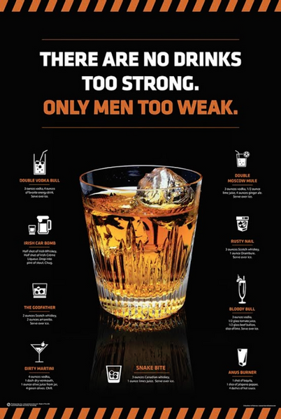 No Drinks Too Strong Poster - TshirtNow.net