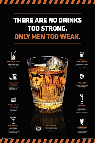No Drinks Too Strong Poster