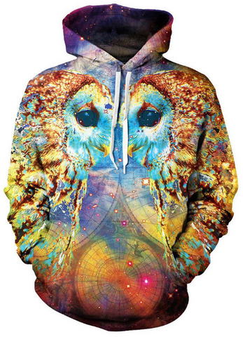 Owl Language Allover 3D Print Hoodie