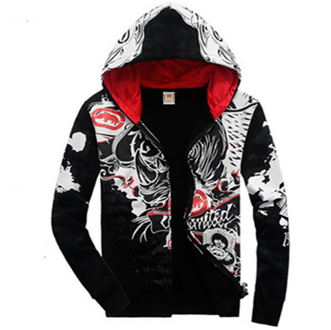 Red Allover 3D Print Hip Hop Hoodie