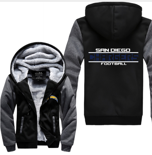 San Diego Chargers Fleece: NFL SAN DIEGO CHARGERS THICK FLEECE JACKET