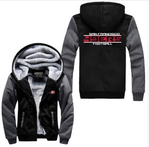 NFL SAN FRANCISCO 49ERS THICK FLEECE JACKET