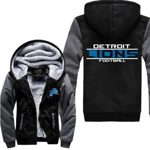 NFL DETROIT LIONS THICK FLEECE JACKET
