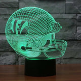 NFL CINCINNATI BENGALS 3D LED LIGHT LAMP