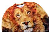 3D Allover Print Lion Face Crewneck Sweatshirt - TshirtNow.net - 4