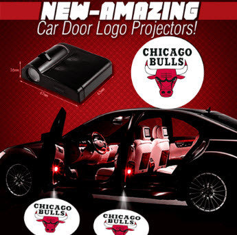 2 NBA CHICAGO BULLS WIRELESS LED CAR DOOR PROJECTORS