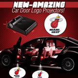 2 NBA MIAMI HEAT WIRELESS LED CAR DOOR PROJECTORS