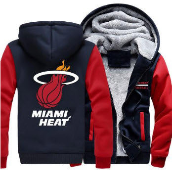 NBA MIAMI HEAT THICK FLEECE JACKET